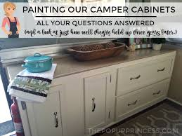 Painting Camper Cabinets How Our Cabinets Have Held Up Three Years Adorable Spray Painting Patio Furniture Remodelling