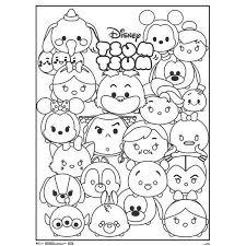 Creative Ideas Tsum Coloring Book Disney Cute Characters Movie