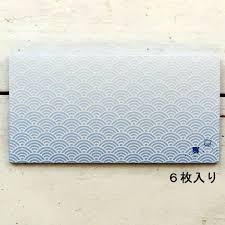楽天市場封筒 にほんのなつ フロンティア 夏柄 波模様 和柄 和風 日本