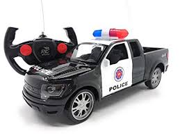 Amazon.com: Full Function RC Police Pickup Truck 1/16 Scale Electric ...