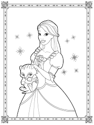 Printable Coloring Pages Of Barbie Princesses And Dancing Princesses