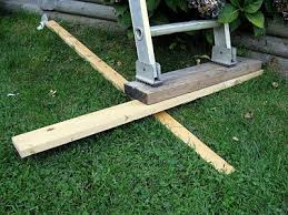ladder trick overcoming uneven ground