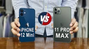 iPhone 12 Mini vs iPhone 11 Pro Max - YouTube