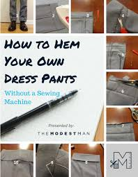 How To Hem Pants Without Sewing Machine