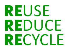 reduce reuse recycle ways to green your blog the the underlying green principles of reduce reuse and recycle