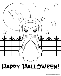 Cute Halloween Coloring Pages Ayushseminarmahainfo