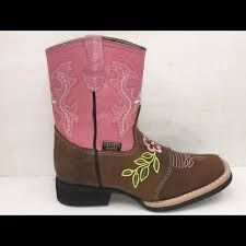 Reyme Boots Size Chart Cowgirl Kids Genuine Leather Brown Pink Boots Boutique