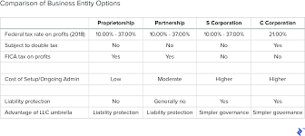 C Corp Vs S Corp Partnership Proprietorship And Llc Toptal