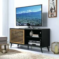 trendy tv stands ft mid century modern media stand storage console entertainment center with slatted sliding door wedwbosd trendy oak tv stand