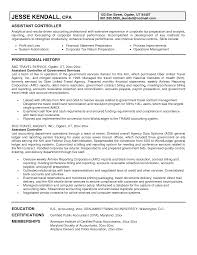 Financial Controller Resume Examples Controller Resume Cover Letter Krida 9