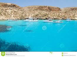 Lampedusa Italië Redactionele Fotografie Afbeelding Bestaande Uit