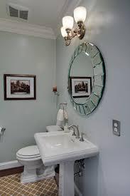 Innovative uttermost mirrors in Bathroom Contemporary with Beautiful Bathroom  next to Pedestal Sink alongside Bathroom Mirror
