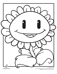 Plants Vs Zombies Coloring Pages Zombie Fighting Sunflower Coloring