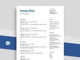 How To Create A Modern Resume In Word Free Simple Resume Cv Templates Word Format 2019 Resumekraft