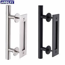 304 stainless steel sliding barn door pull handle wood door handle black door handles for