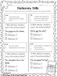 Dictionary Skills Worksheet Worksheets for all | Download and ...