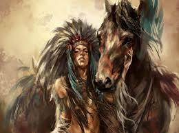 native american horse wallpaper. Girl Horse Feathers Art Native American Babe Sexy Painting Wallpaper 247248 WallpaperUP Intended