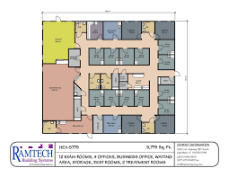 medical office layout floor plans. Ramtech Has Standard And Custom Floor Plan Designs That Can Be Used Or Modified For Developing Modular Clinics, Medical Offices, Other Healthcare Office Layout Plans
