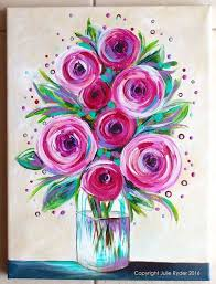 easy rose painting best 25 easy flower painting ideas on painting