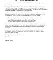 Cover Letter For Undergraduate Nursing Student College