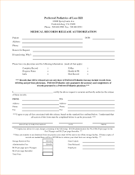 004 Template Ideas Medical Records Release Authorization