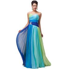 Elegant Long Evening Dresses Robe De Soiree Longue Grace Karin Chiffon Strapless Women Formal Gowns Party Evening Dress