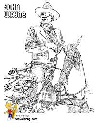 John wayne movie star coloring 01 at coloring pages book for kids boys gif