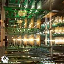 led testing racks at ge lighting s nela park facility in cleveland ohio the racks are used to test quality of light and bulb lifespan technolog