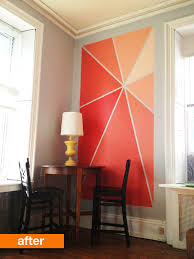 idea painting one wall of a room a diffe colour to make the room more interesting and going one step further the result is something like this
