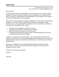 Bunch Ideas Of Best Restaurant Theatre Manager Cover Letter Examples