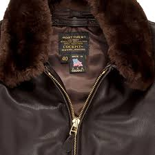 g 1 flight jacket with removable collar