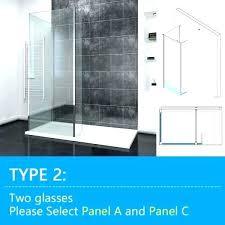 easy clean shower elegant panels easy clean shower screen set return panel standard rain head genesis