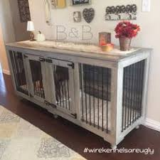 furniture pet crate. Dog Crate - This Grey Double Fits Perfectly In Room! PS: Wire Kennels Are Still Ugly :) Furniture Pet