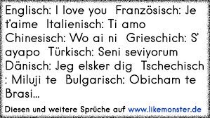 Englisch I Love You Französisch Je Taime