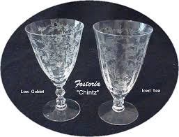 Fostoria Glass Patterns Classy Our House Antiques Fostoria Glass Co Etched Patterns