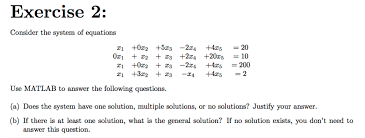 c exercise 2 consider the system of equations z1 0z2 5z3
