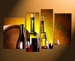 Home Decor With Wine Bottles 60 Piece Canvas Art Prints Wine Bottles Canvas Photography Red 59