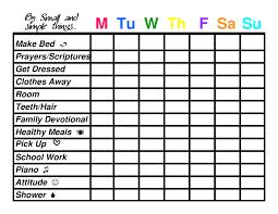 Chore Chart Templates Free Printable Free Printable Daily Chore Charts Download Them Or Print