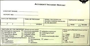 A Accidents Incidents Report Form Download Scientific Diagram