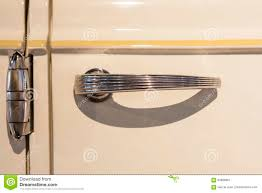 Vintage car door handle Smooth Chrome Door Handle Detail On Classic Luxury Car Antiquecarcom Door Chrome Handle Detail On Classic Car Stock Image Image Of