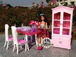 plastic dollhouse furniture sets. free shipping girl birthday gift plastic play set furniture kitchen accessories dining table wine cabinet dollhouse sets l