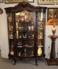 Antique curio cabinet curved glass | antique victorian keystone quartered oak curved glass curio. Bargain John S Antiques Antique Large Oak Curved Glass China Cabinet Original Finish Bargain John S Antiques