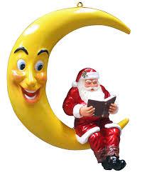 Coloriage Pere Noel Sur La Lune Imprimer