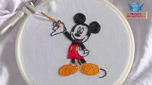 Designer Mickey Mouse Mickey Mouse Fancy Hand Embroidery Designs Works On Blouses Saree Net Stitches Flowers Latest