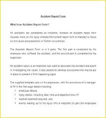 Accident Incident Form Template
