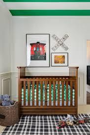eclectic train themed nursery