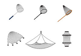 fishing net clipart black and white. Plain Black Free Fishing Net Vector And Clipart Black White T