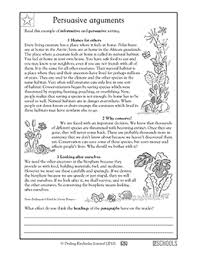 th grade reading writing worksheets writing a persuasive 4th grade reading writing worksheets writing a persuasive argument