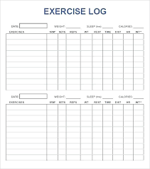 Weight Lifting Log Sheets Workout Logs Fitness Log Spreadsheet Excel Sheets Glotro Co