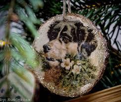 Weihnachtsbaumschmuck Diy Holzanhänger Hundeblog Hunderosa